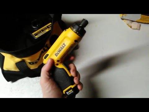 showing my new dewalt cordless screwdriver i got at lowes -