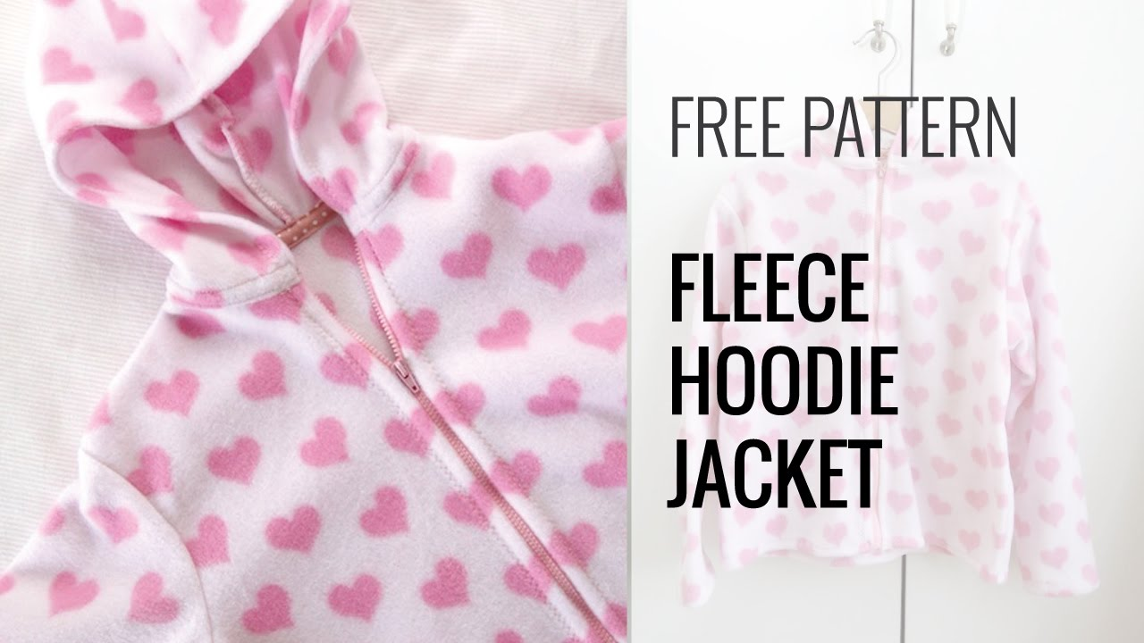 Quick and Easy Fleece Hoodie Jacket - YouTube