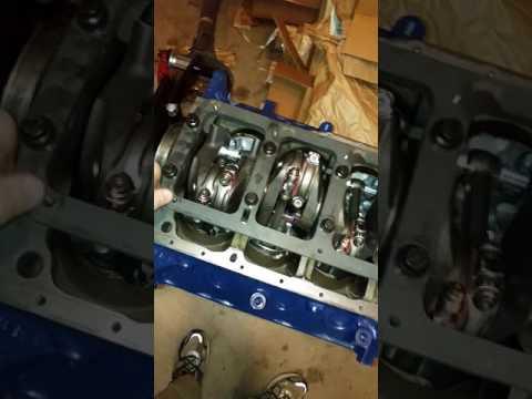 347 Stroker Canton moroso girdle install stock oil pan clearance