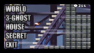 New Super Mario Bros DS World 3- Ghost House Secret Exit