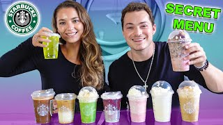 Trying Starbucks SECRET MENU Drinks!
