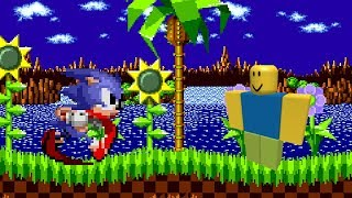sonic 1 green hill zone but everytime a badnik dies the roblox death sound plays