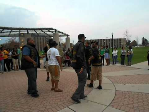 Alpha Phi Alpha Chant at NPHC Chant Off N.I.U.