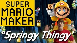 "Super Mario Maker: ""Springy Thingy!"" - Course Spotlight"