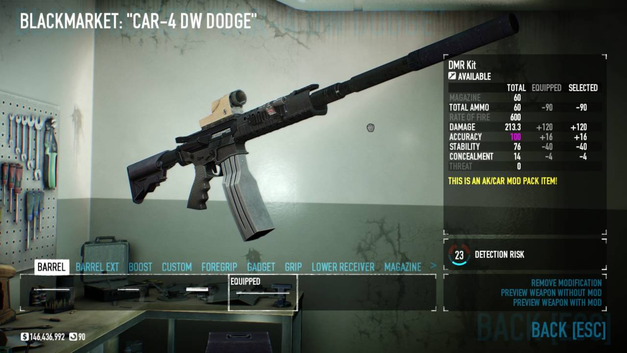 Payday 2 Car 4 Dodge Build Admiralairon