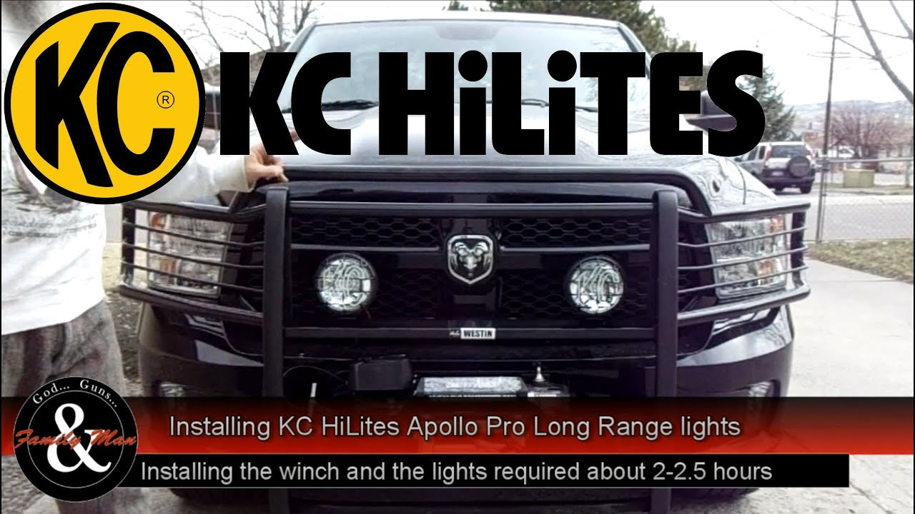 Installing kc hilites long range spot lights on my ram 1500 youtube mozeypictures Image collections