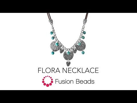 Learn how to create the Flora Necklace by Fusion Beads