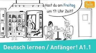 Deutsch lernen A1.1 / Wie ist deine Telefonnummer? / Zahlen 1-20 / im Deutschkurs / Lektion 1