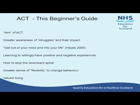 ACT   This beginner's guide   Dr David Craig
