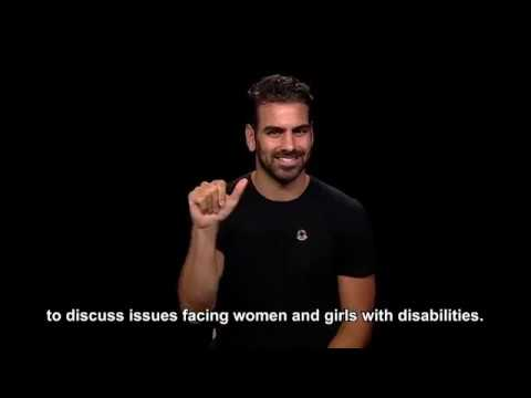 Model and Disability Rights Activist Visits the UN (American Sign Language version)