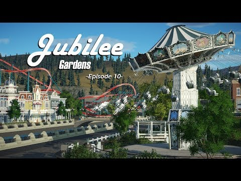 Planet Coaster: Jubilee Gardens [Ep. 10] - Ferry Terminal and the Chair-swing!