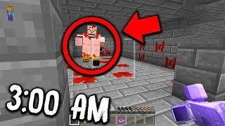 If you see THIS in Minecraft PE at 3:00 AM... RUN AWAY! (Scary Minecraft Pocket Edition Map)