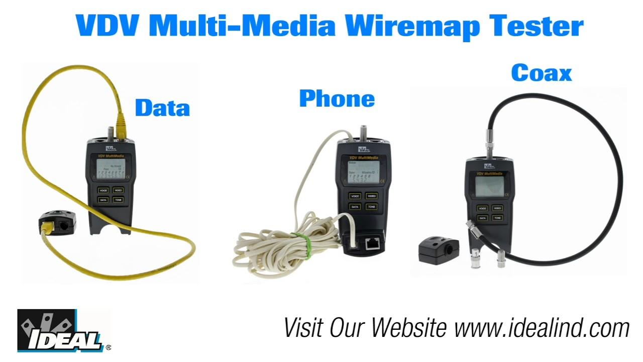 33-856 VDV Multi Media Tester IDEAL - YouTube