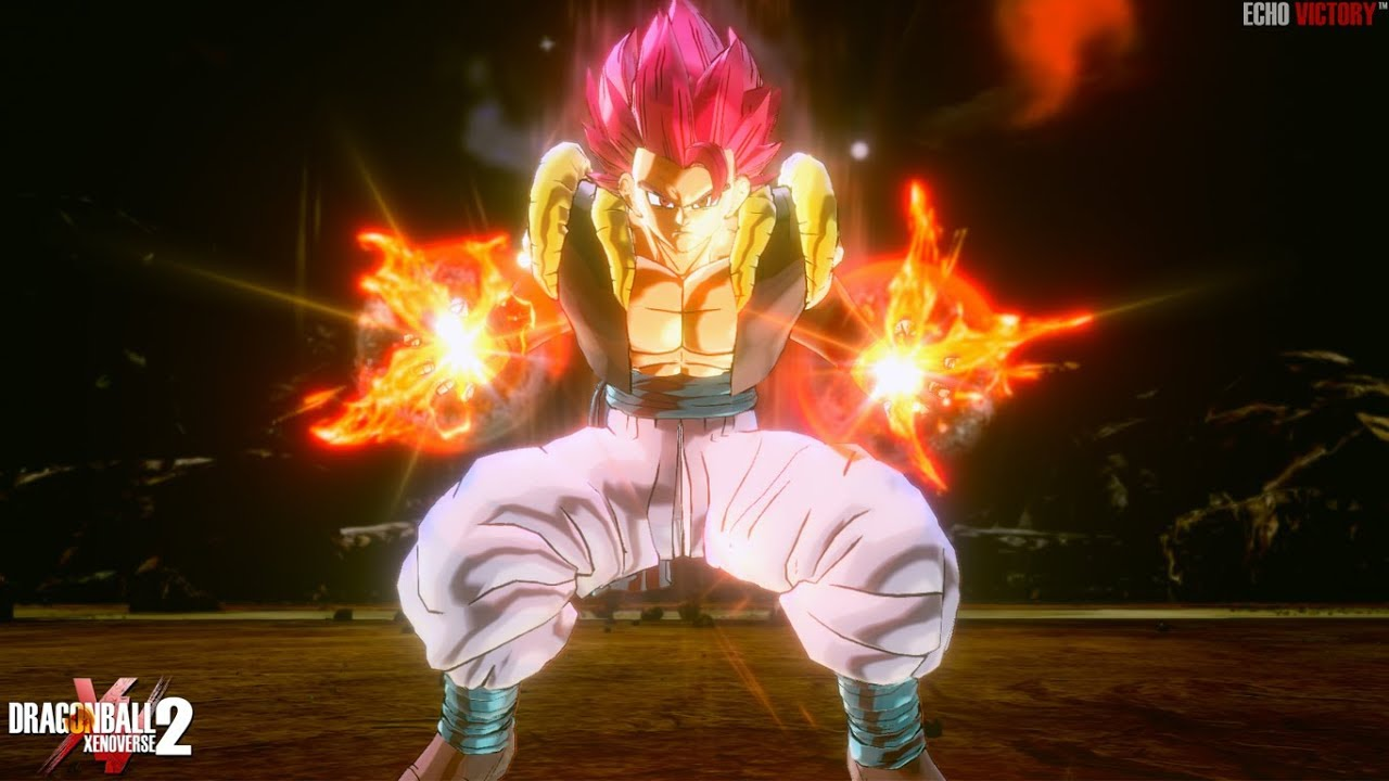BLAZING RED GOD! New Super Saiyan God Gogeta Gameplay | Dragon Ball  Xenoverse 2 MOD