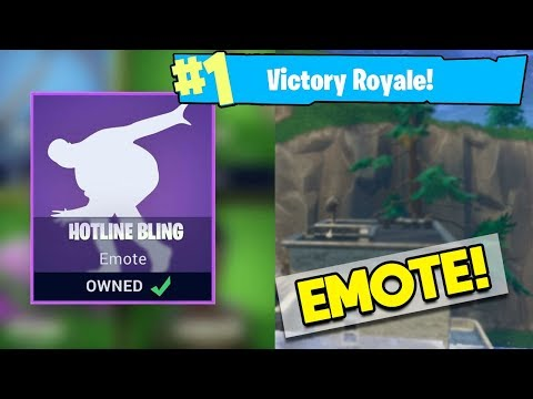 HOTLINE BLING EMOTE BEING ADDED TO FORTNITE! DRAKE TELLS EPIC GAMES TO ADD NEW EMOTE! Fortnite DLC!