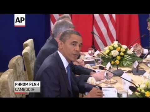 Obama Meets Leaders of China, Japan