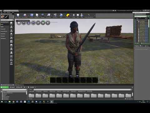 Conan Exiles - Mod Preview 2 - Thrall Wardrobe with weapons and animations