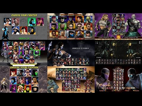 Mortal Kombat: Select Screen Evolution MK1 to MKX [Update]