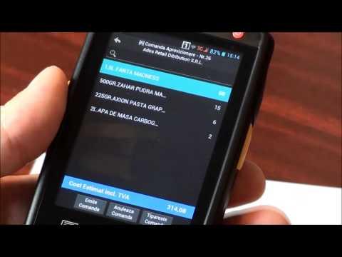 SmartCash Mobility pentru Android comanda de aprovizionare