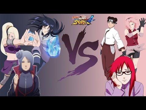 Naruto Storm 4 Dublado PT-BR Hinata, Konan e Ino vs Sakura, Tenten e Karin (COM vs COM)