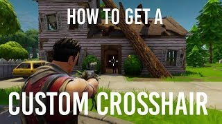 HOW TO GET A CUSTOM CROSSHAIR IN FORTNITE [PC ONLY] TUTORIAL