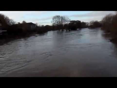 Newark-On-Trent Flooded After Heavy Rain