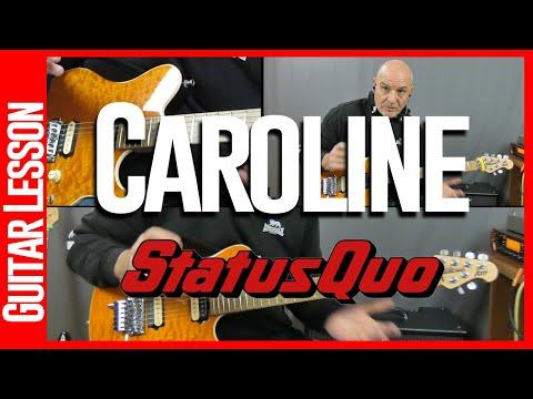 Caroline By Status Quo - Guitar Lesson