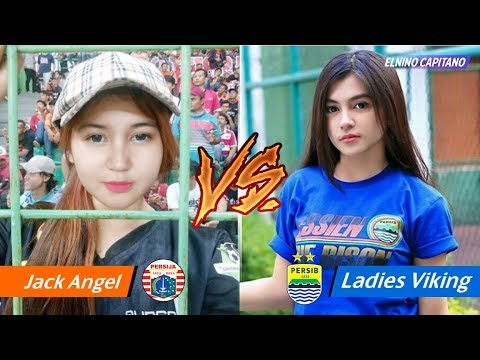 Suporter Cewek Persija vs Suporter Cewek Persib ● Cantik Yang Mana Nih ? Elnino Capitano