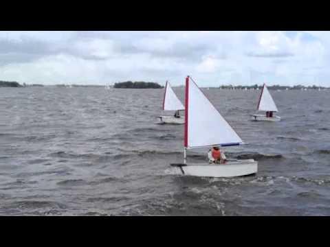 Optimist Mini Sail In Heavy Winds