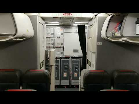 American Airlines Cabin Tour Legacy US Airways Airbus A320-200 refurbished interior