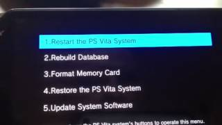 Ps vita factory reset + fix