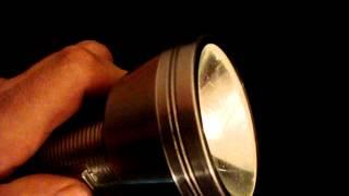 Vintage Sears Explorer Stainless Steel Flashlight - Works Great Full size