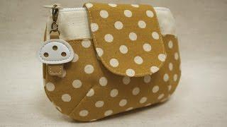 清秀佳人布坊 - 手作教學 - 有袋蓋的圓弧立體拉鍊袋 thumbnail
