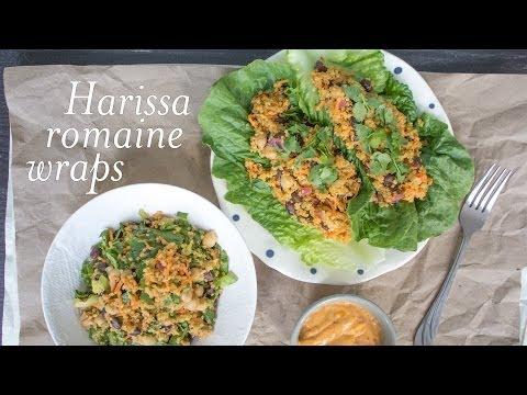 Harissa Tahini Romaine Wraps