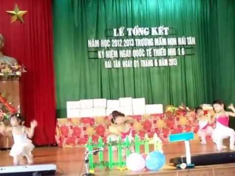 Bài hát thể dục Con Cào Cào Trường mầm non Hải Tân