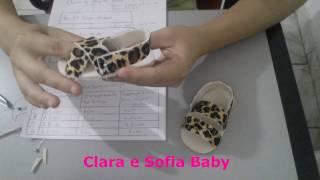 Sandália de bebê modelo nordestina em feltro feito a mão
