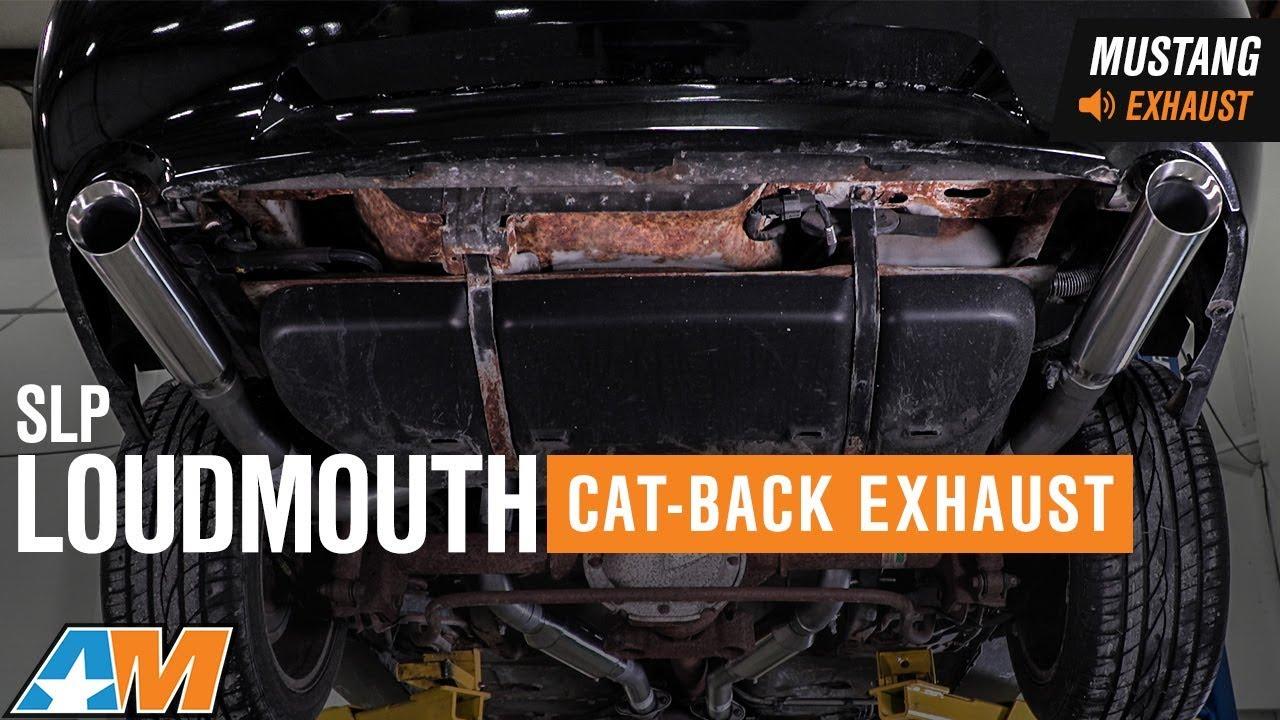 1999 2004 mustang gt mach 1 slp loudmouth cat back exhaust sound clip install