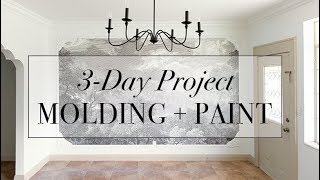 3-Day Project: Updating a room with Molding + Paint
