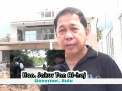 Governor Sakur Tan PROJECT VISIT IN SULU DPWH STIMULUS FUNDS
