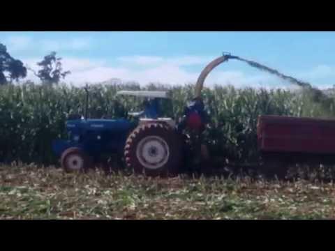 fazendo silagem com tractor ford 6610 turbo safra 2016