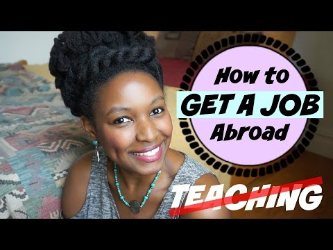 How To Get A Job Abroad | Non-Teaching