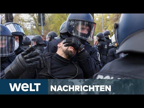 CORONA-PANDEMIE: Bundestag beschließt Bundes-Notbremse - Querdenker vor Reichstag I WELT Newsstream