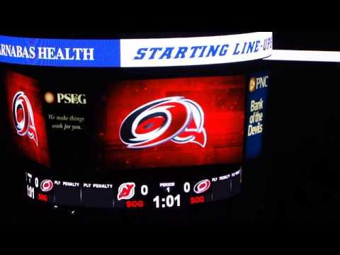 Devils vs. Hurricanes (startling lineups)