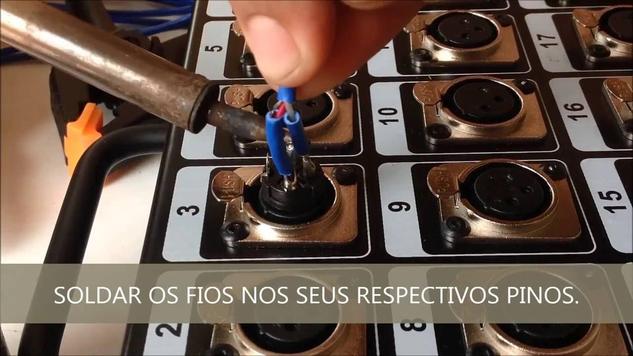COMO SOLDAR E MONTAR CONECTOR XLR EM MEDUSA HD