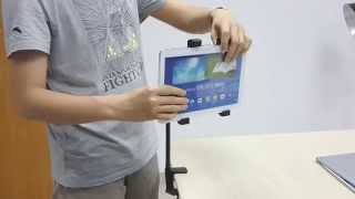 How To Install Goose-neck Clamp Stand Lazy Bed Holder Mount For Tablet