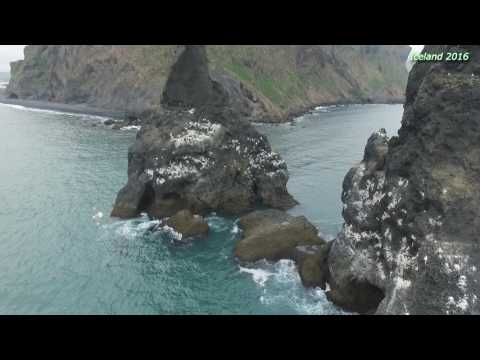 Iceland - Vik - Reynisdrangar and Reynisfjara, Drone - Phantom 3 Pro, 2016