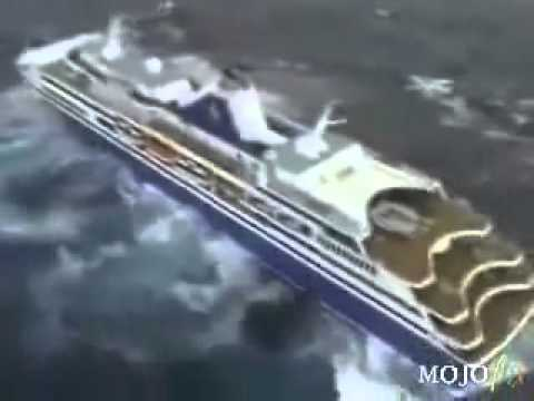 Cruise Ship Almost Tips Over Omg Youtube