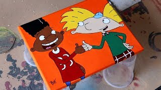 Time-Lapse: Hey Arnold Painting (by request)