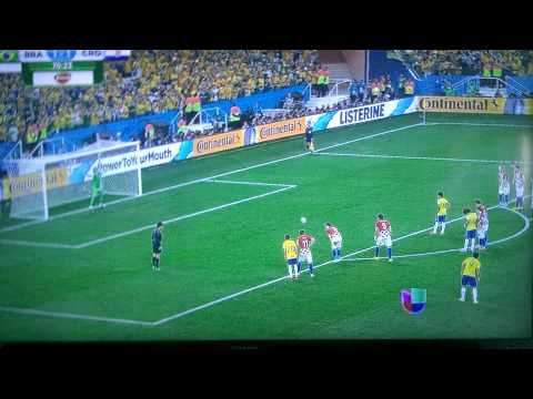 Brazil VS Croatia penalty kick 2-1