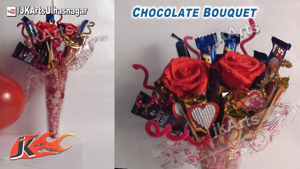 How To Make Chocolate Flower Basket : Diy chocolate bouquet gift idea jk arts